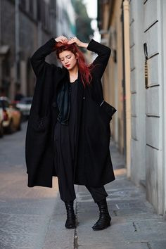I love all pieces she's wearing __ Martina, Florence on Sartorialist  January 8, 2013