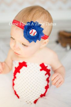 Choice Of Color - Baseball Shabby Flower Headband - Little Girls or Toddler Hairbow - Newborn Baby Hair Bow - Spring or Summer Sport Team by OnceUponATimeTuTus on Etsy https://www.etsy.com/listing/227947292/choice-of-color-baseball-shabby-flower