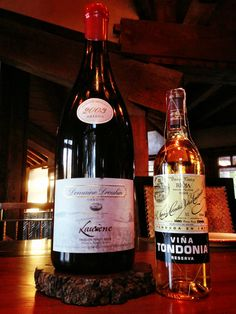 """2003 Domaine Drouhin Oregon Pinot Noir """"Laurene"""" from a 3-liter bottle and 2003 R. Lopez de Heredia Vina Gravonia Rioja Blanco Crianza. Two intriguingly complex wines enjoyed with a group of 16 family and friends at a Good Friday feast."""