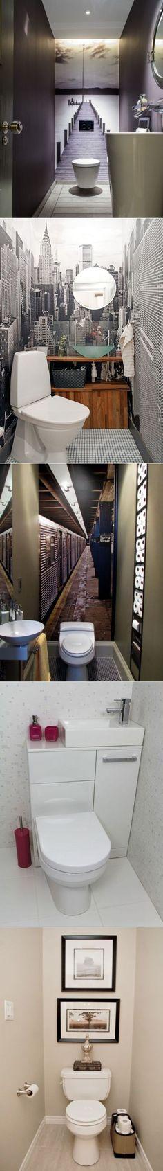 Idée décoration Salle de bain  ; Маленький санузел: 17 интересных идей для о