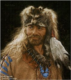 Mountain Man With Grizzly Claw Necklace ~ by Paul Calle Mountain Man, Rocky Mountains, Le Castor, Into The West, West Art, Foto Art, Le Far West, Portraits, Elements Of Art