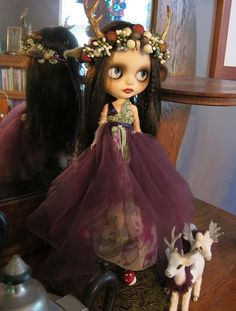 Picara Custom Blythe Doll - Isobel the Fawn Queen