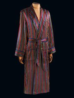 Derek Rose - Langley Silk Dressing Gown for men.