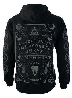 Fleece Zip Up Hood with over sized soft feel front, back and arm print.                                                                                                                                                             Part of the Ouija range.