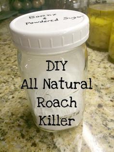 This DIY all natural roach killer is the perfect alternative to chemical killers, especially when you have kids or pets. This recipe has only 2 ingredients! Borax and powdered sugar. Homemade Cleaning Products, Natural Cleaning Products, Natural Products, Diy Products, Handy Gadgets, Natural Bug Killer, Roach Killer, Homemade Shower Cleaner, Diy Pest Control