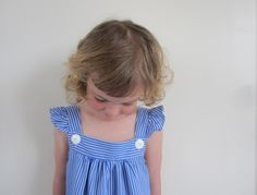 sewpony: kcwc: Day four - Blue stripey dress from Happy Homemade v2