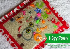 """I Spy"" Pouch Tutorial  Great for language development!  Great gift to make for a toddler!"
