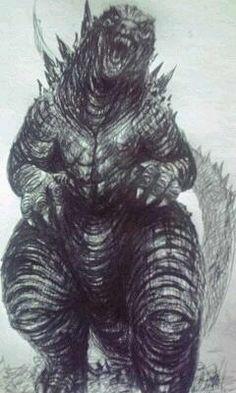 Godzilla...what a wonderful drawing.