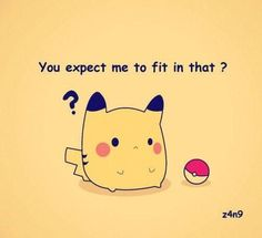 you expect ,e to fit in that fat pokemon - Google Search