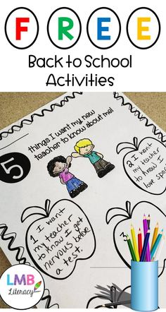 FREE-Back to School Activities and Poem, First Day of School