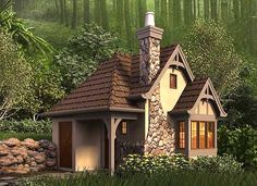 Whimsical Cottage House Plan - 69531AM | Cottage, Country, European, Vacation, Narrow Lot, Photo Gallery, 1st Floor Master Suite, CAD Available, PDF | Architectural Designs