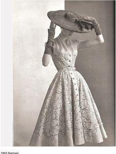 Balmain 1953, via Belle Atelier. So beautiful.