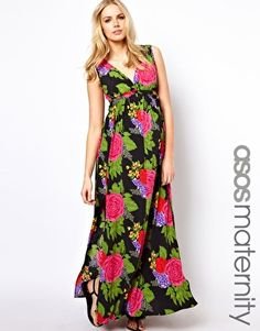 ASOS Maternity Maxi Dress In Large Floral $47.30