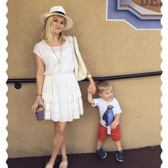 """Pin for Later: Reese Witherspoon's Sweet Family Photos Are Absolutely Adorable  """"Last day of beignets with my boy #NOLAstyle"""""""