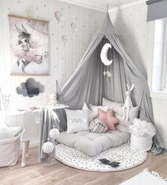 SHOP THE LOOK: Kids Room Decor Ideas to Inspire We all know how difficult it is to decorate a kids bedroom. A special place for any type of kid, this Shop The Look will get you all the kid's bedroom decor ide Cute Room Decor, Baby Room Decor, Bedroom Decor Kids, Gurls Bedroom Ideas, Baby Girl Bedroom Ideas, Bedroom Ideas For Small Rooms For Girls, Decorating Girls Rooms, Bedroom Ideas Creative, Decorating Ideas
