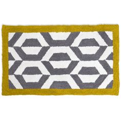Discover the Jonathan Adler Gio Ponti Grey & Yellow Bath Rug at Amara 21x34 $132