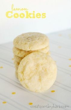 These Lemon Cookies are soft, chewy, and a perfect balance of sweet and tart.