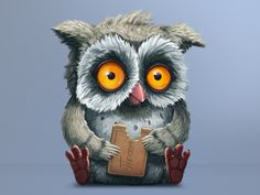 Owl Character for T-Shirts #owl #character