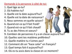Expression oral en français by cristinaromerotrujillo via slideshare French Expressions, French Language Lessons, French Language Learning, French Lessons, French Basics, French For Beginners, Learning French For Kids, Teaching French, How To Speak French