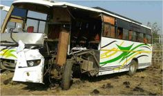 18 killed, 14 hurt in bus-truck collision in Pakistan - http://thehawk.in/news/18-killed-14-hurt-in-bus-truck-collision-in-pakistan/