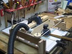 THICKNESS PLANER - YouTube. I love the way he adjusts the thickness.