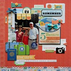 Epcot *Little Yellow Bicycle Escape* by Lisa Swift Jones alissa Peas in a Bucket Beach Scrapbook Layouts, Vacation Scrapbook, Scrapbook Layout Sketches, Disney Scrapbook, Scrapbooking Layouts, Scrapbook Pages, Vacation Memories, Vacation Trips, Little Yellow Bicycle