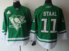Pittsburgh Penguins 11 Jordan STAAL St. Pattys Day Jersey 085ccbdd1