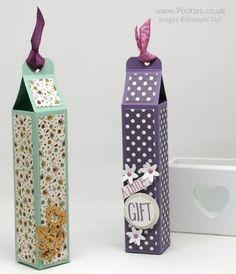 Stampin' Up! Demonstrator Pootles - Tall Slender Pretty Box using Petals & Paisleys