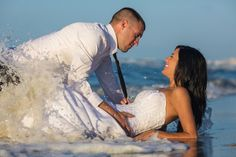 "Love is...... a""Trash the Dress"" Shoot after a beach wedding..."