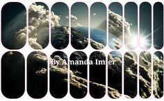View from the Heavens Custom Nail Wrap by Amanda #jamberrynails #nailartstudio