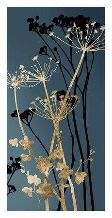 Fleurs bleues - Art Contemporain Tableau sur AllPosters.fr