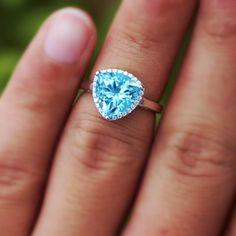 Brilliant and Unique Trillion Cut Blue Topaz Engagement for Women [100591] - $71.99 : jewelsin.com