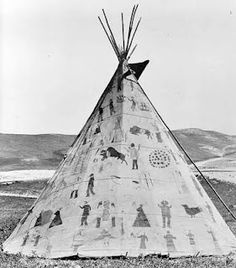 Brule Winter Count - Lakota/Dakota Calendar Drawn on a Tipi