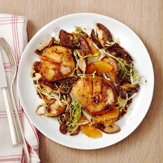 Seared Scallops with Shiitakes - Rachael Ray Every Day