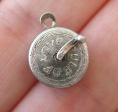 VINTAGE Sterling RULE OF LOVE Silver Bracelet Charm Tape Measure Handle Moves in Jewelry & Watches, Vintage & Antique Jewelry, Fine   eBay
