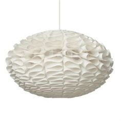 Norm 03 modern lamp shade is designed with organic and simple principles in mind. When lit Norm 03 gives a nice sculptural light effect on the wall.