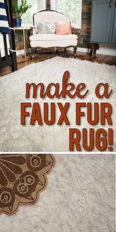 How to make a DIY Faux Fur Rug (!) - * View Along the Way *Wanna LOL & see a cool tutorial? Click here!!