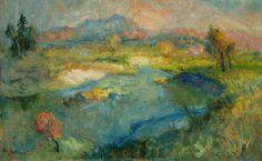 Vecer na Savi, 1926 (Evening on the Sava River)  Rihard Jakopic  (Slovene, 1869-1943)