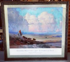 In honor of the @National Western Stock Show we present this Limited Edition print framed in @Larson-Juhl 's Brittany line. #art #framing #denver #colorado #nwss