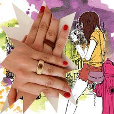 #DIY in #Berlin - Was macht die Hände einer schönen Frau noch schöner? Diese wunderbaren Ringe aus Holz von Fabol!