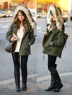 Winter jacket! And also love the boots