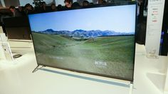 Sony has announced what it claims is the thinnest LCD TV in the world. The and sizes of the series have cabinets that measure just inches thick at their thinnest parts. Sony Xperia Z3, Smart Tv, Tech Gadgets, Home Brewing, Tvs, Netflix, Phone, Pictures, Android