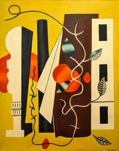 Fernand Leger - Yellow Composition, 1928 at Baltimore Museum of Art Baltimore MD