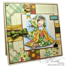 """My sentiment would say something like, """"You warm my heart"""" (Mo Manning digi stamp)"""
