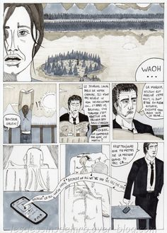 Voici la 25ème page de mon webcomic Red Lodge. mangaink #pigmamicron #copicciao #bd #dessin #comic #webcomics #manga #blog #bowie
