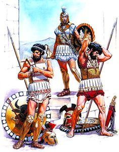 • Phocian hoplite, first half of the V century BC • Hoplite, end of the VI…
