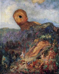 オディロン・ルドンの「キュクロプス」 | ムッシューPの美の探究