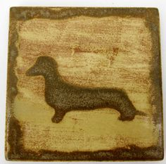 New Style. Kiln fired. Dachshund Dog Drink Coasters Ceramic Tile by SerendipitiniPet, $16.50