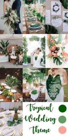 New elegant beach wedding decorations color schemes Tropical Wedding Decor, Beach Wedding Colors, Tropical Wedding Bouquets, Carribean Wedding, Wedding Themes, Wedding Ideas, Wedding Poses, Wedding Pictures, Wedding Hair