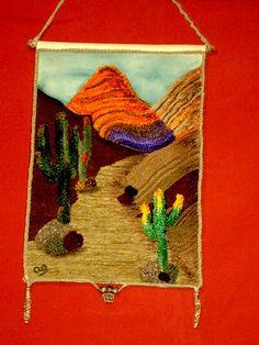 Diarana Arte & Diseño: Tapices de lana pegada